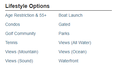lifestyle options pages